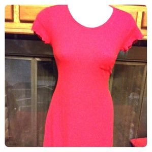 Tshirt dress Red and Stretchy